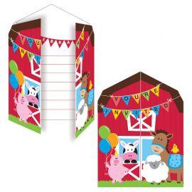 8 Invitaciones Farmhouse