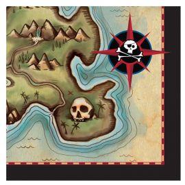 16 Servilletas Barco Pirata 25 cm