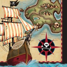 16 Servilletas Barco Pirata 33 cm