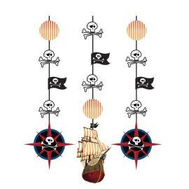 3 Colgantes Barclo Pirata 91 cm