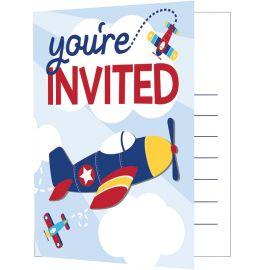 8 Invitaciones Avionetas