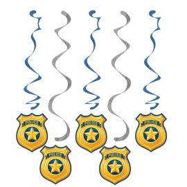 5 Colgantes Policia