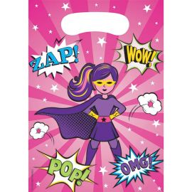 8 Bolsas Superhero Niña