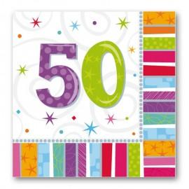 16 Servilletas Radiant 50 años 33 cm