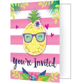 8 Invitaciones Tropical
