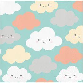 16 Servilletas Nubes 25 cm