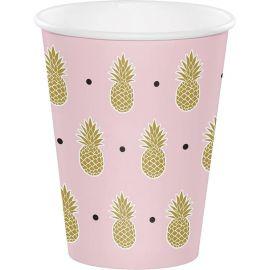 8 Vasos Pineaple Wedding 255 ml