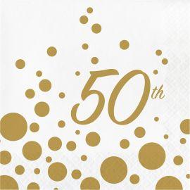16 Servilletas 50 Aniversario 33 cm