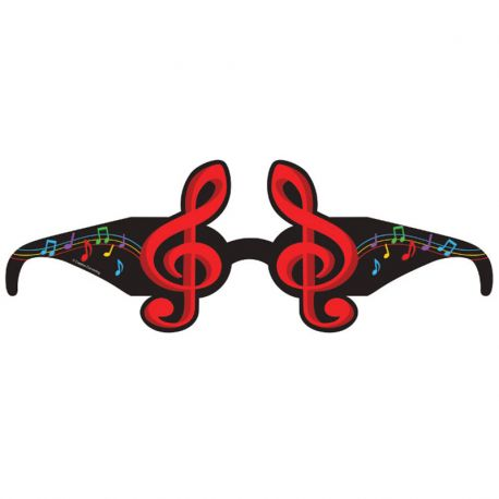 Gafas Papel Musica