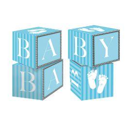 Centro de Mesa Sweet Baby Feet Blue