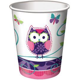 8 Vasos Owl Pal Birthday