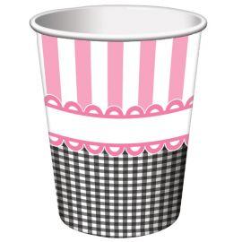 8 Vasos Sweet Baby Feet Pink