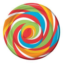 8 Platos Sugar Buzz 18 cm