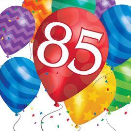 16 Servilletas Balloon Blast 85 Cumpleaños