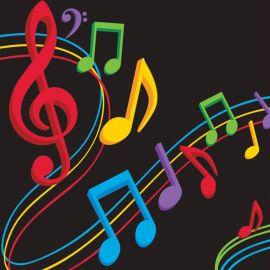 16 Servilletas Música 25 cm