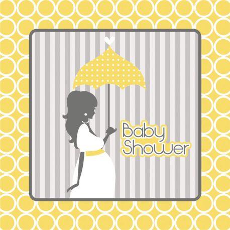 16 Servilletas Baby Shower 33 cm