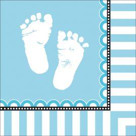 16 Servilletas Sweet Baby Feet Blue