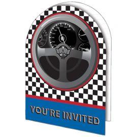 8 Invitaciones Racing