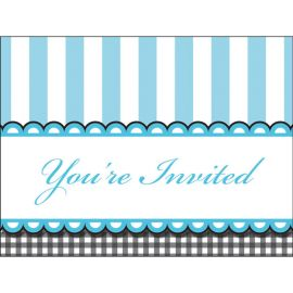 8 Invitaciones Sweet Baby Feet Blue