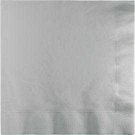 50 Servilletas Color Plata 33 cm