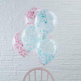 5 Globos con Confeti 30 cm