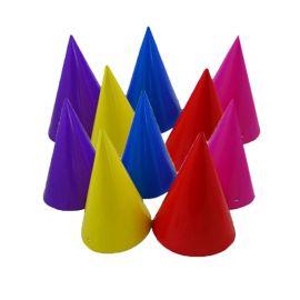 8 Gorros forma Cono Varios Colores