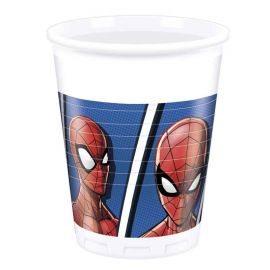 8 Vasos Spiderman 200 ml