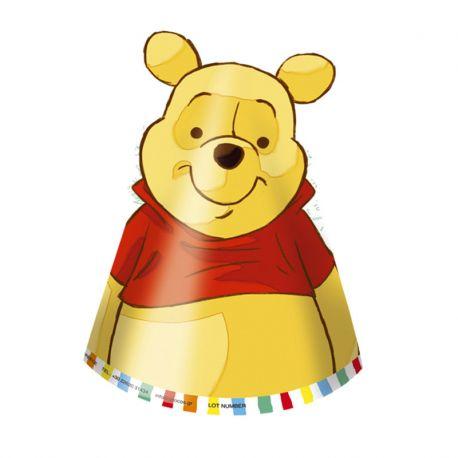 6 Gorros Winnie the Pooh de Papel