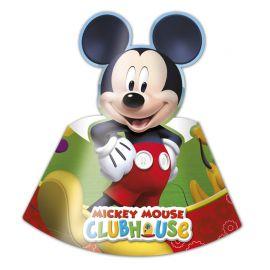 6 Gorros de Papel Mickey Mouse