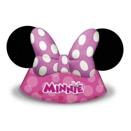 6 Gorros de Papel Minnie Mouse