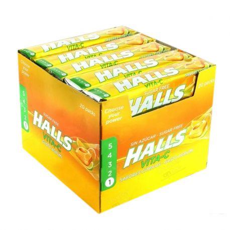 Caja Halls Cítrico Sin Azúcar 20 Uds