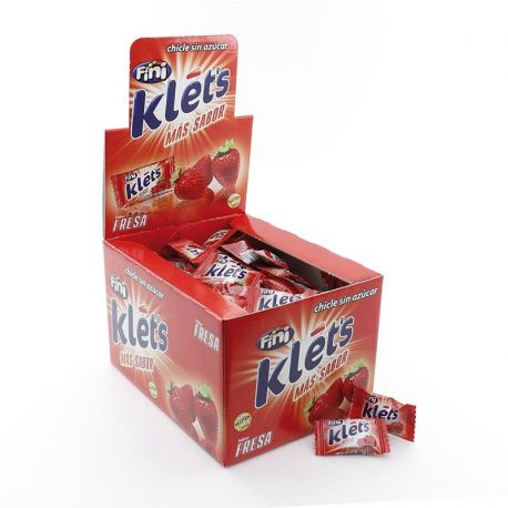 Caja Klets Fresa Sin Azúcar 200 Uds