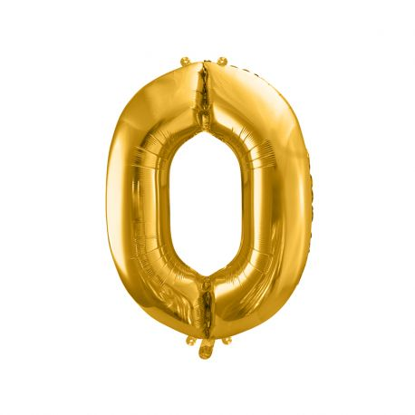 Globo Numero 0 Foil 86 cm
