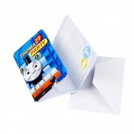 6 Invitaciones Thomas y sus Amigos