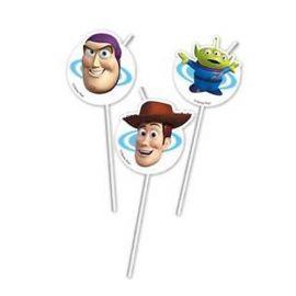 6 Pajitas Medallón Toy Story