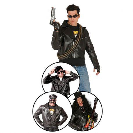 Disfraz de Rockero Guaperas Motorista para Hombre