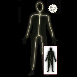 Disfraz de Sombra con Led para Hombre