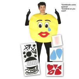 Disfraz de Emoji para Hombre con Piezas