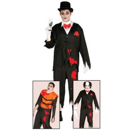 Disfraz de Zombie Groom para Hombre con Manchas de Color Sangre