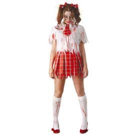 Disfraz de Colegiala Zombie para Mujer con Corbata