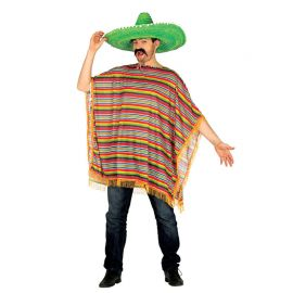 Disfraz de Mexicano para Hombre Poncho Colorido