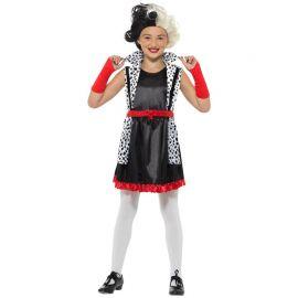 Disfraz de Cruela de Vil para Niña