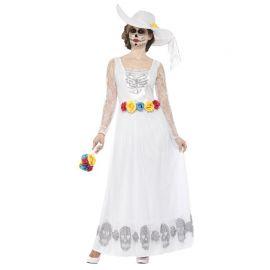 Disfraz de Novia Blanco del Día de los Muertos