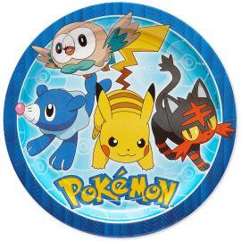 8 Platos Pokémon de Papel 23 cm