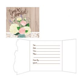 8 Invitaciones Rustic Wedding