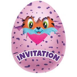 8 Invitaciones Hatchimals