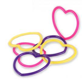 6 Juguetes Pulseras Corazón
