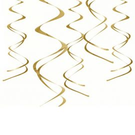 5 Serpentinas Colgantes Metalizadas