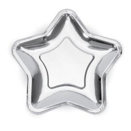 6 Piatti di Carta a Forma di Stella 18 cm