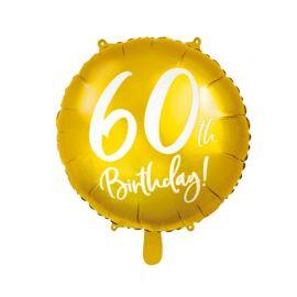Globo 60 años Dorado Metalizado